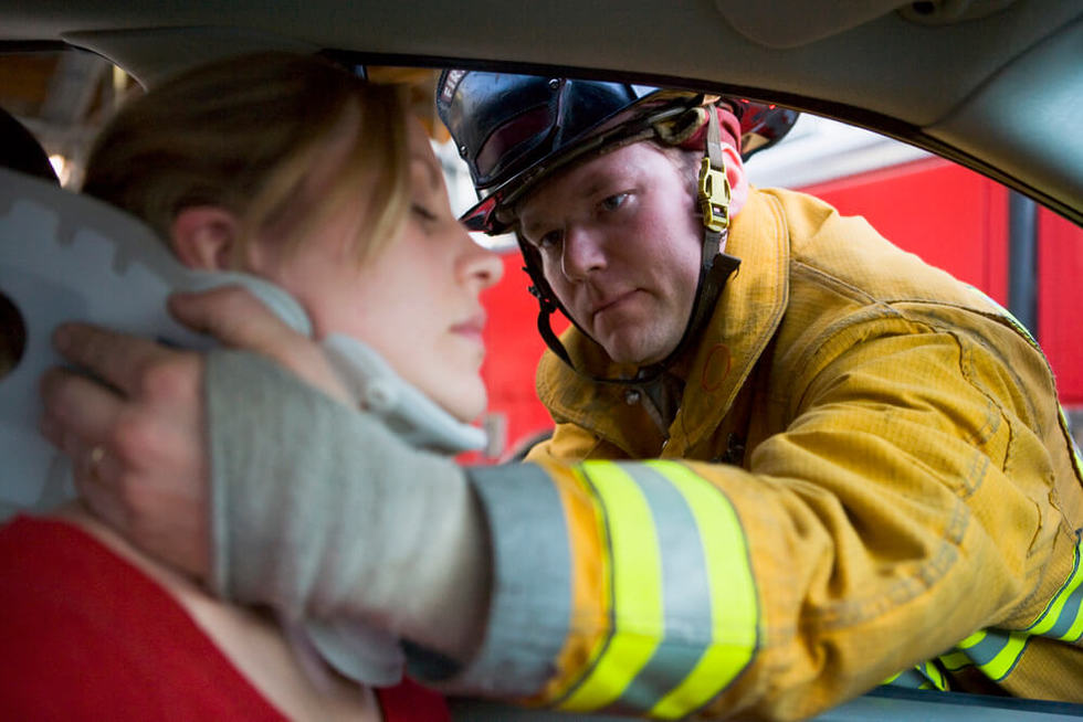 Woman getting help for catastrophic injury